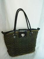 BRIGHTON WOVEN STRAW HEART CHARM TOTE BAG