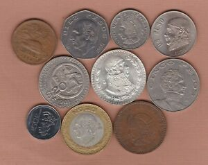 TEN MEXICO 1954 TO 1993 IN VERY FINE NEAR MINT CONDITION