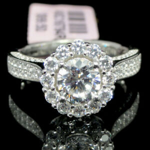.925 Sterling Silver Ring CZ Ladies Engagement Wedding Bridal Ring Gold Tone 5~8