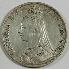 Great Britain 1890 Silver JUBILEE Crown Coin VF+ Queen VICTORIA KM#765