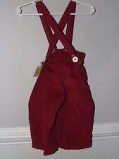 NWT Handmade 12M 18M Red Corduroy Pants Suspenders Set Boy Christmas Adjust Pict