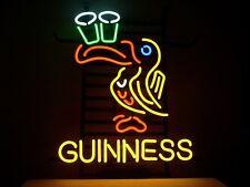 """Guinness Bird Logo Beer Art Light Garage Real Glass Tube Gift Neon Sign 16""""x14"""""""