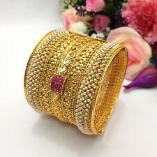 Indian Pakistani Polki Bangle Size:2.6 Bollywood Antique Wedding Jewellery