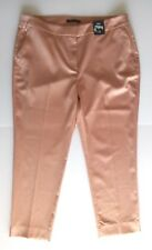M&S COLLECTION WOMENS TROUSERS SILKY PINK NUDE FORMAL SLIM SIZE 18 NEW TAGS