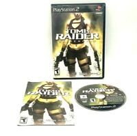 Laura Croft Tomb Raider Underworld Sony PlayStation PS2 PS2 Complete Black Label