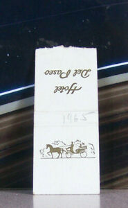 Rare Vintage Matchbook L5 Mexico 1965 Hotel Del Paseo Carriage Horse Panorama