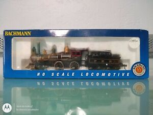 BACHMANN 51114 HO SCALE #566 4-4-0 AMERICAN LOCOMOTIVE AND TENDER SEALED INSERT