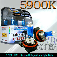 HIPRO POWER H11 55W 5900K SUPER WHITE XENON HALOGEN HEADLIGHT BULBS FOR LOW BEAM