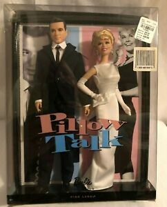 2011 Mattel Pillow Talk Doris Day and Rock Hudson Barbie Doll Pink Label NRFB
