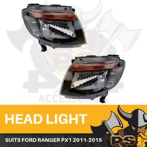 Headlights For Ford Ranger PX1 2012-15 LHS & RHS Head Lights