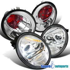 Fit 1998-2005 VW Beetle Halo Projector Headlights+Clear Tail Lights Replacement