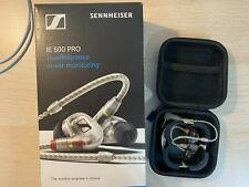 Sennheiser IE500 PRO Professional In-Ear Monitors (OPEN BOX) 9.5/10 (Clear)