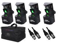 4 X EQUINOX FUSION SCAN MAX 30W PACKAGE INC BAG DJ DISCO SCANNER LED
