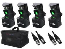 4 x Equinox Fusion scansione MAX 30W Pacchetto INC Bag DJ Discoteca Scanner LED