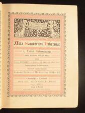 1888 Acta Sanctorum Hiberniae Charles de Smedt Joseph de Backer Latin