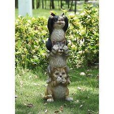 Stacking Cats Hear / See / Speak No Evil - Figurine Statue Home / Garden Decor