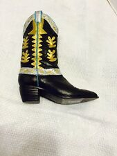 Retired 2000 Just The Right Shoe #25329 Mostly Matisse Beverly Feldman CowbyBoot