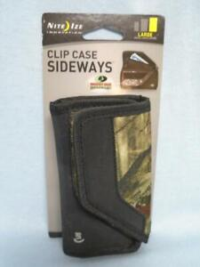 Nite Ize Clip Case Sideways Mossy Oak Phone/Money Holder Case Sz L