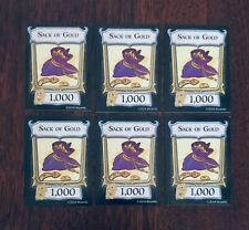 D&D, Dungeon! (1000 Sack of Gold)(Lot of 6) Extra/Replacement Treasure Cards