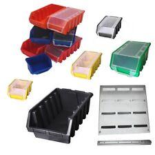 Sichtlagerboxen Stapelboxen Gr. 0-5 mit/ohne Deckel 6 Farben Werkstatt Lagerbox