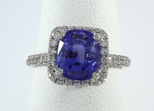2.20ct Blue ceylon SAPPHIRE on PLATINUM Ring - R8447