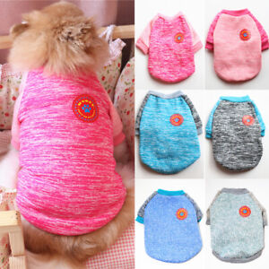 Pet Dogs Sweater Knitted Clothing Sweatshirt Winter Velvet Warm Small Dog Clothe