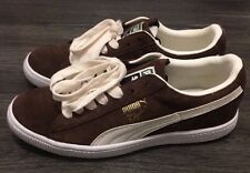 Mens Puma Shoes Size 7.5 US Clyde Brown White Leather Walking