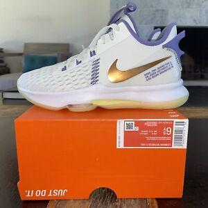 Nike🔥Air Max LeBron Witness V 5 White/Bronze/Purple 6.5 Lakers Jordan XI XII 🔥