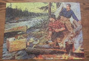 """Tuco Puzzle """"Suppertime at Camp"""" pieces Gift Series No. 5890 Goodwin artist"""