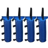 4Pcs Blue Monoshock Sand Bag Weight For Ez Pop Up Canopy Outdoor Gazebo Tent