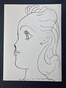 Pablo Picasso Original 1957 Lithograph 26/266 + Young Lady Profile
