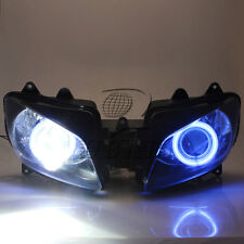 Assembly Blue Angel Eyes Projector HID Headlight For Yamaha YZF R1 2000-2001
