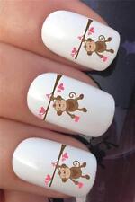 Agua De Uñas transferencias Cute Monkey Love Corazón Día de San Valentín Calcomanías Stickers * 320