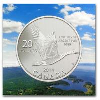 Canada 2014 $20 for $20 Canada Goose Fine Silver Coin