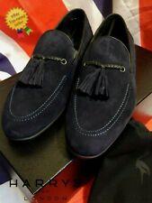 HARRYS OF LONDON Kudu Suede Loafers UK5 US6 EU39 *BNWB* Blue HARRODS