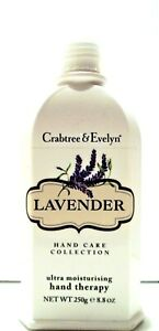 Crabtree & Evelyn LAVENDER Ultra-Moisturising Hand Therapy 8.8 oz/250 g Pump NEW