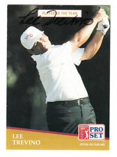 LEE TREVINO Pro Set SIGNED PGA Tour Trading Card 1991 Senior Player Of The Year