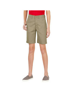 2 PAIRS Dickies Girl's Khaki Shorts New With Tags Various Sizes