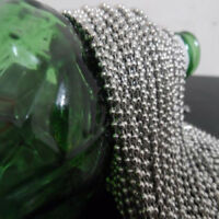 2mm/2.4mm/3mm/4mm/6mm in bulk 10M Stainless Steel Ball Chain Jewelry finding