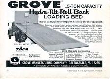 1969 Dealer Print Ad of Walter Kidde Grove Super 15 Hydra-Tilt Loading Truck Bed