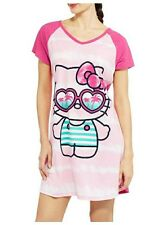 Hello Kitty Sleep Shirt Size Large XL Womens Nightgown Sanrio Pajamas Pink NWT