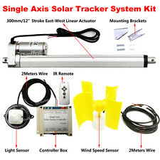 Solar Tracking Track Electric 1KW Single Axis Wind Speed Sensor Sun Tracker Kits