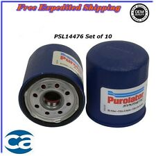 Oil Filter Synthetic Set of 10 For Chevrolet Daihatsu Toyota Pontiac 1.8L 2.2L