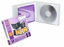 UniKeep 5 CD/DVD Wallet with Pages Holds 5 discs clear poly with graphic overlay