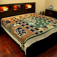 Cotton African Animal Print Cotton Tapestry Wall Hang Tablecloth Bedspread Full
