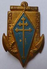 Insigne FFL FRANCE LIBRE RÉGIMENT AEF SOMALIE Drago 1944/45 ORIGINAL Libération