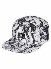 DC SHOES MENS BASEBALL CAP.NEW FILTH SNAPBACK WHITE/BLACK SKATER HAT 7S/19/WCQ1