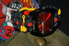 Black Reflective Firefighter Fire Rescue Bunker Turnout Gear 550 Paracord Watch