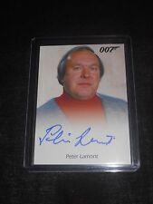 James Bond 007 Autograph Trading Card Peter Lamont Production Designer
