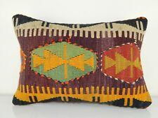 Large Turkish Kilim Pillowcase, Couch Throw Pillow Decor Cushion 14'' X 20''